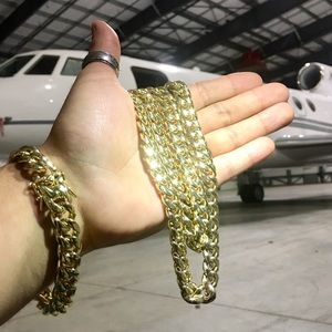Other - CUBAN LINK 18K GOLD NEW CHAIN MADE IN ITALY
